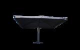 Zweefparasol Brest 300 x 400 cm antraciet _