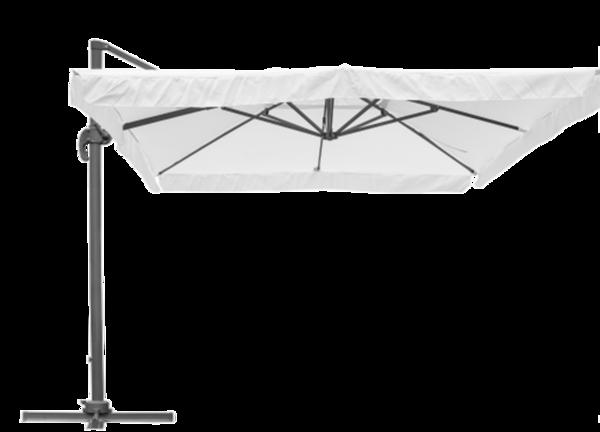 Zweefparasol Brest 300 x 400 cm wit